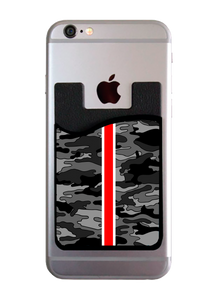 Gray Camo Red Stripe Card Caddy