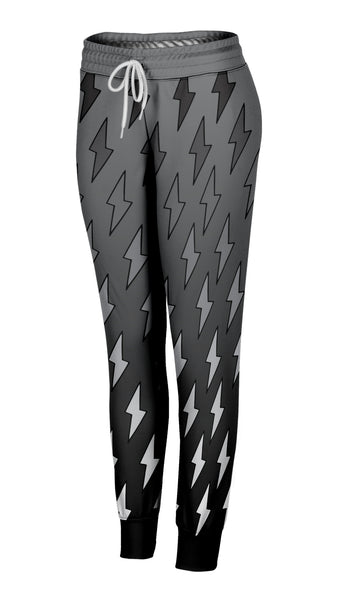 Gray Ombre Lightning Bolt Joggers