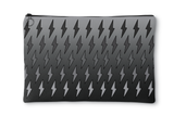 Gray Ombre Lightning Bolts Accessory Pouch