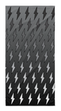 Gray Ombre Lightning Bolts Towel