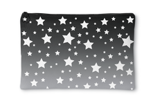 White Stars Gray Ombre Accessory Pouch