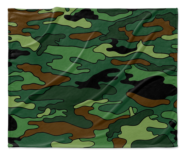 Green & Brown Camouflage Blanket