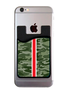 Olive Camo Stripe Card Caddy