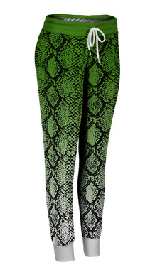 Colored Ombre Snakeskin Joggers