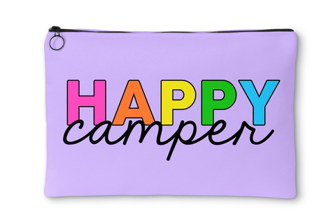 Happy Camper Rainbow Letters Accessory Pouch