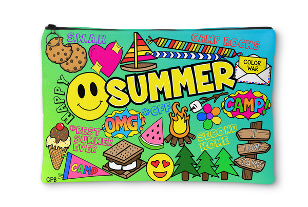 Happy Summer Accessory Pouch