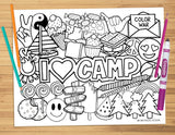 I Love Camp Coloring Sheet