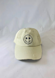 Starry-Eyed Happy Face Hat