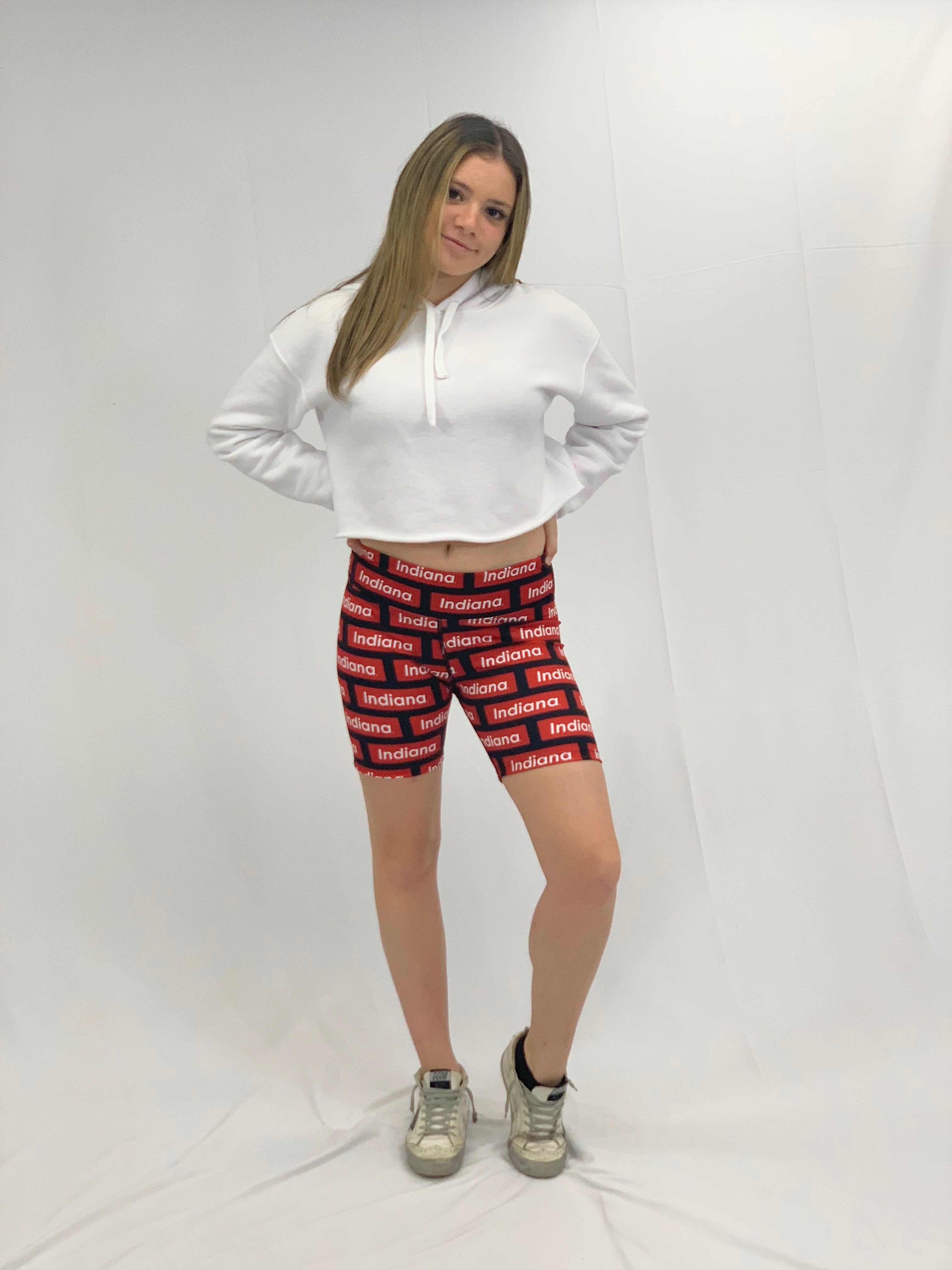 Indiana Block Pattern Bike Shorts