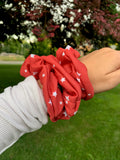 Mini Stars Red Scrunchie
