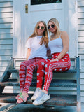 Indiana Hoosiers Bold Star Pattern Leggings