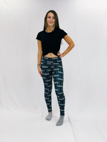 Tulane Block Pattern Leggings