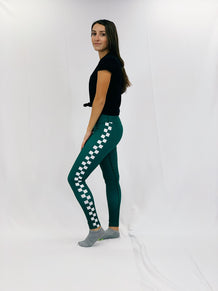 Side Seam Checkered Leggings