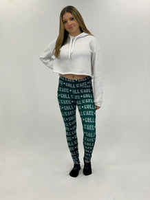 Roll Wave Bold Stars Pattern Leggings