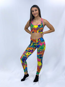 Mardi Gras Collage Leggings