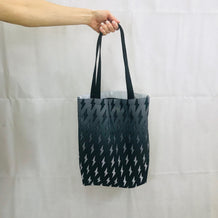 Gray Ombre Lightning Bolts Tote Bag