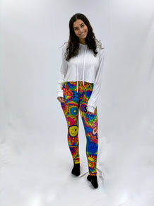 Hippie Collage Leggings
