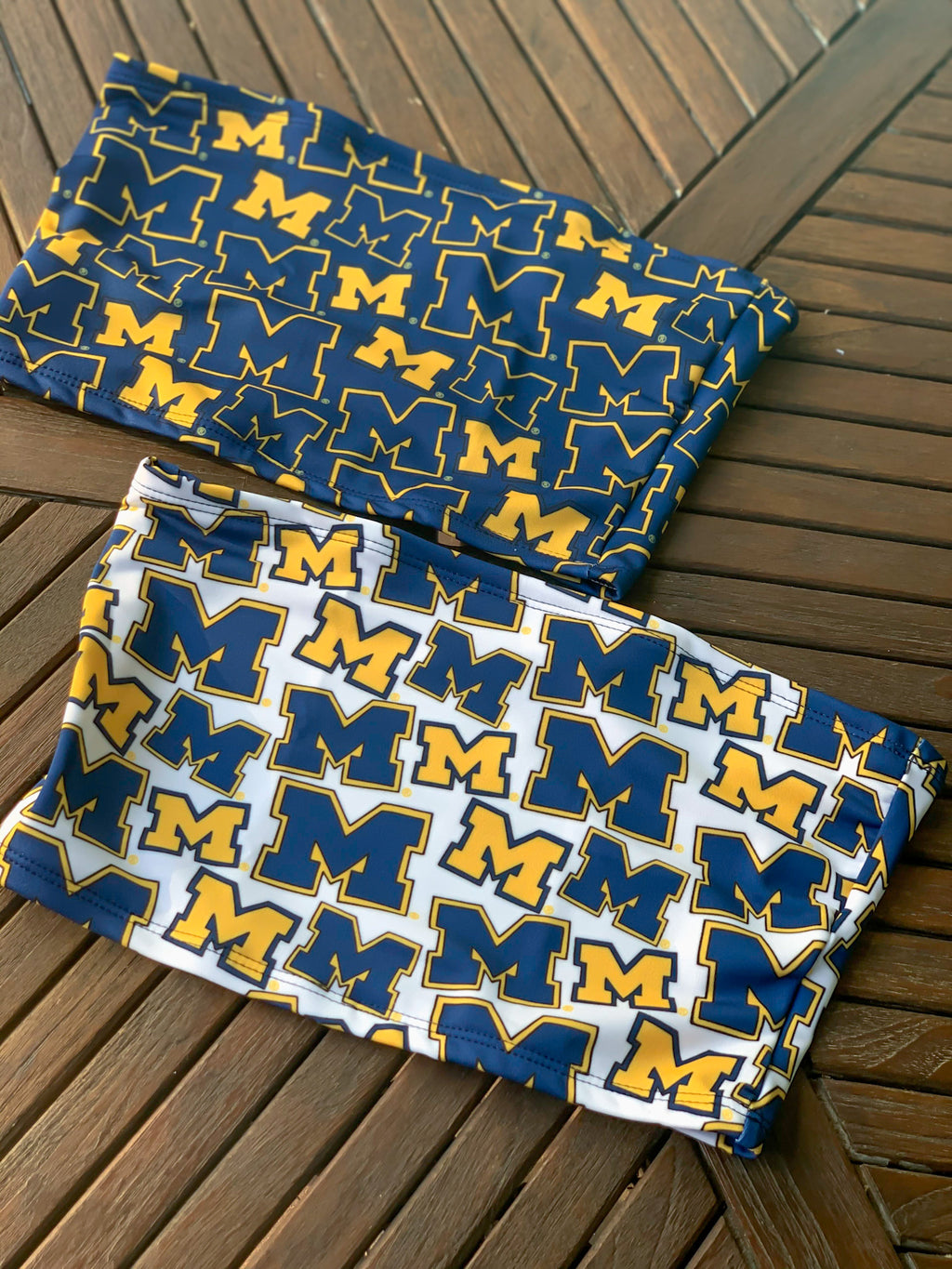 Michigan M Pattern Tube Top