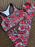 Alabama Collage Sports Bra