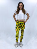Happy Face Weed Eyes Leggings
