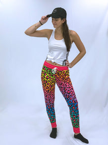 Rainbow Cheetah Joggers