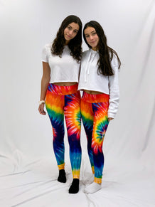 Rainbow Tie Dye Leggings