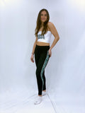 Tulane Gothic Side Stripe Leggings