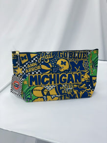 Michigan Collage Accessory Pouch