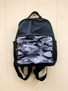 Black & Gray Camo Backpack