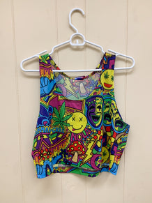 Mardi Gras Collage Tank