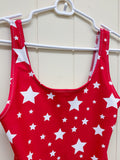White Stars Red One-Piece Swimsuit