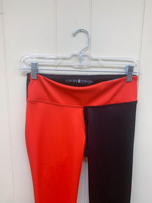 Red & Black Half Color Leggings