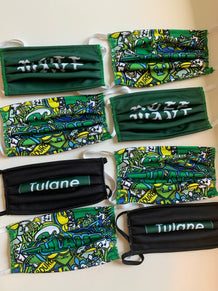 Tulane Face Mask Cover Pre-Pack
