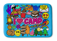 I Love Camp Bathmat