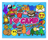 I Love Camp Blanket