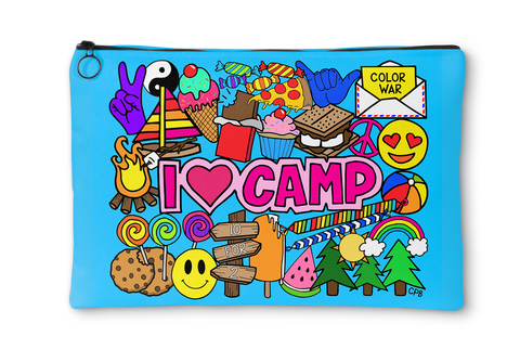I Love Camp Accessory Pouch