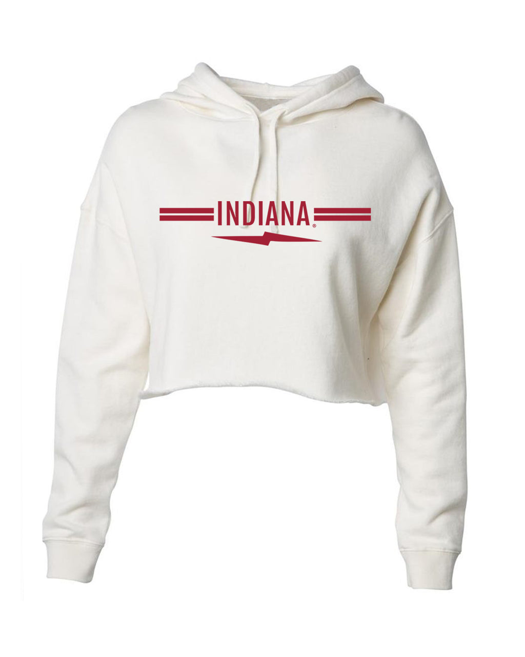 Indiana Lightning Bolt Stripe Cream Sweatshirt