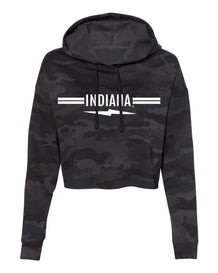 Indiana Lightning Bolt Stripe Black Camo Sweatshirt