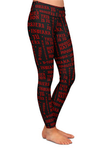 Indiana Hoosiers Gothic Pattern Leggings