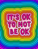 It's Ok To Not Be Ok Coloring Sheet