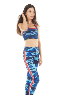 Red Stripe Camo Leggings
