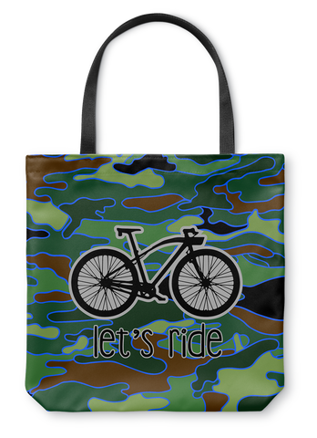 Let's Ride Camo Tote Bag