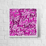 Graffiti Love Framed Print