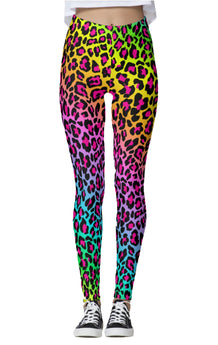 Rainbow Cheetah Leggings