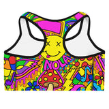 Mardi Gras Collage Sports Bra