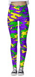 Mardi Gras Camo Leggings