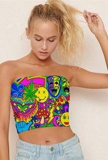 Mardi Gras Collage Tube Top