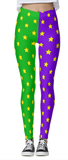 Mardi Gras Split Stars Leggings