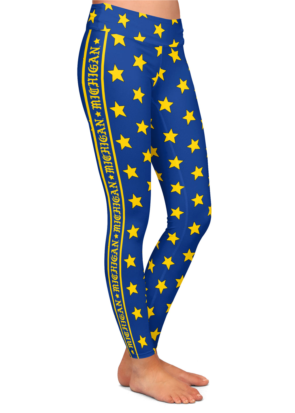 Michigan All-Star Gothic Side Stripe Leggings