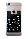 White Stars on Black Card Caddy
